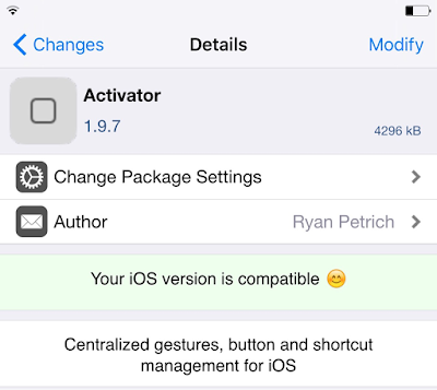 Activator for iOS 9