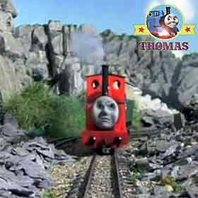 Traveling along Thomas the tank engine and friends rocky canyon steam tank Rheneas the train engine