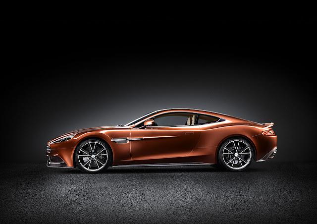 Aston Martin new Vanquish side