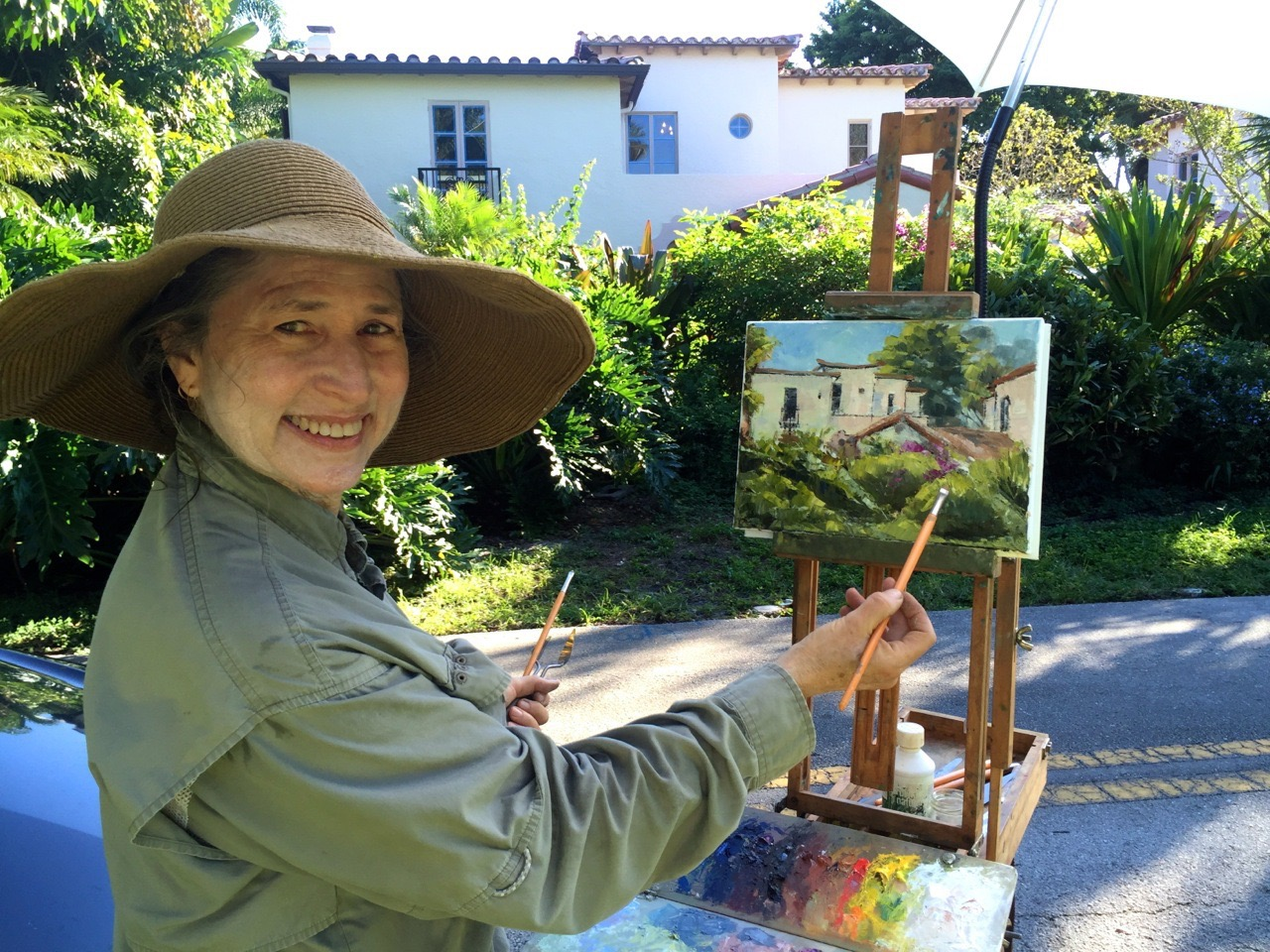 Plein air painting at the Old Floresta Neighborhood in Boca Raton