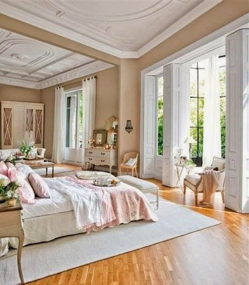 At home pastel pink hamptons style for Bedroom ideas pastel