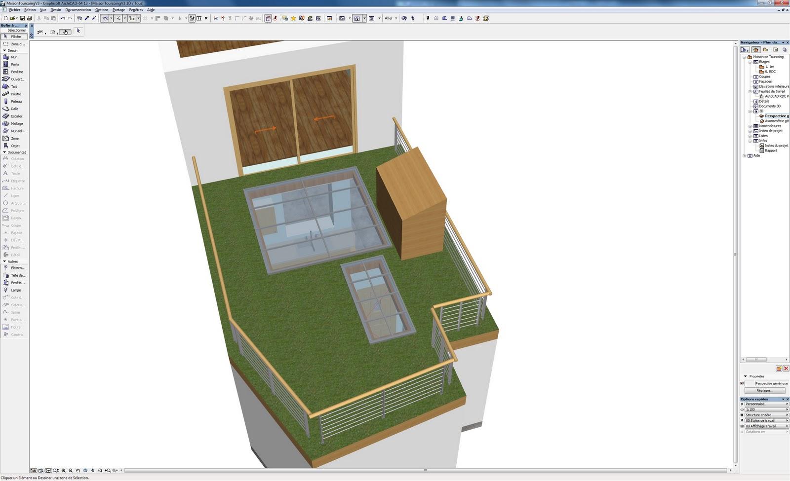 R novation de ma maison 3d de l 39 exterieur avec baie vitr e for Exterieur maison 3d