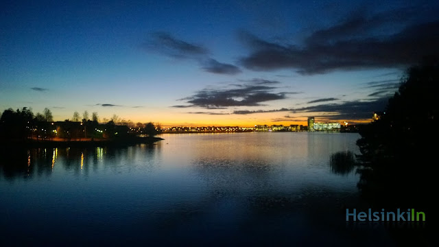 sunset over Keilaniemi