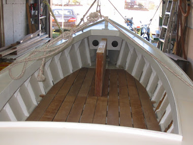 After - 1918 Deadrise Sailing Skiff, new floor board
