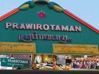 Lokasi Kampung Prawirotaman Jogja, Yogyakarta