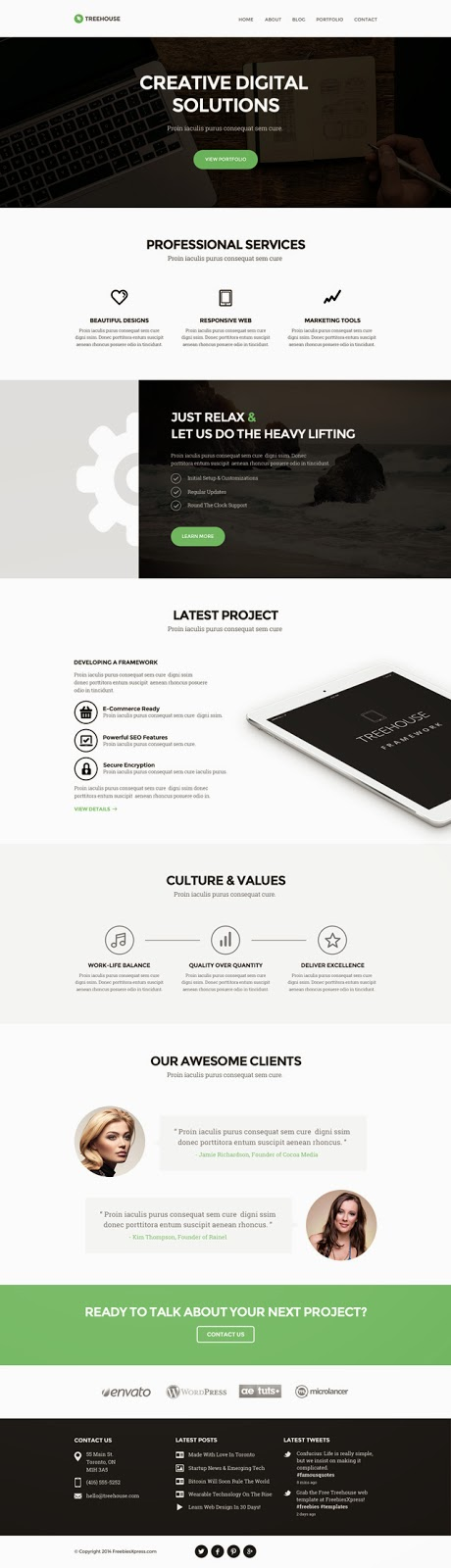 Free Website PSD Template Website