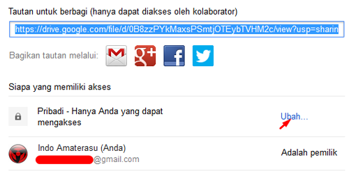 Ubah Hak Akses Google Drive
