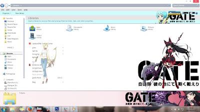 [Theme Win 7] Gate: Jieitai Kanochi nite Kaku Tatakaeri by Eldiaz7 4