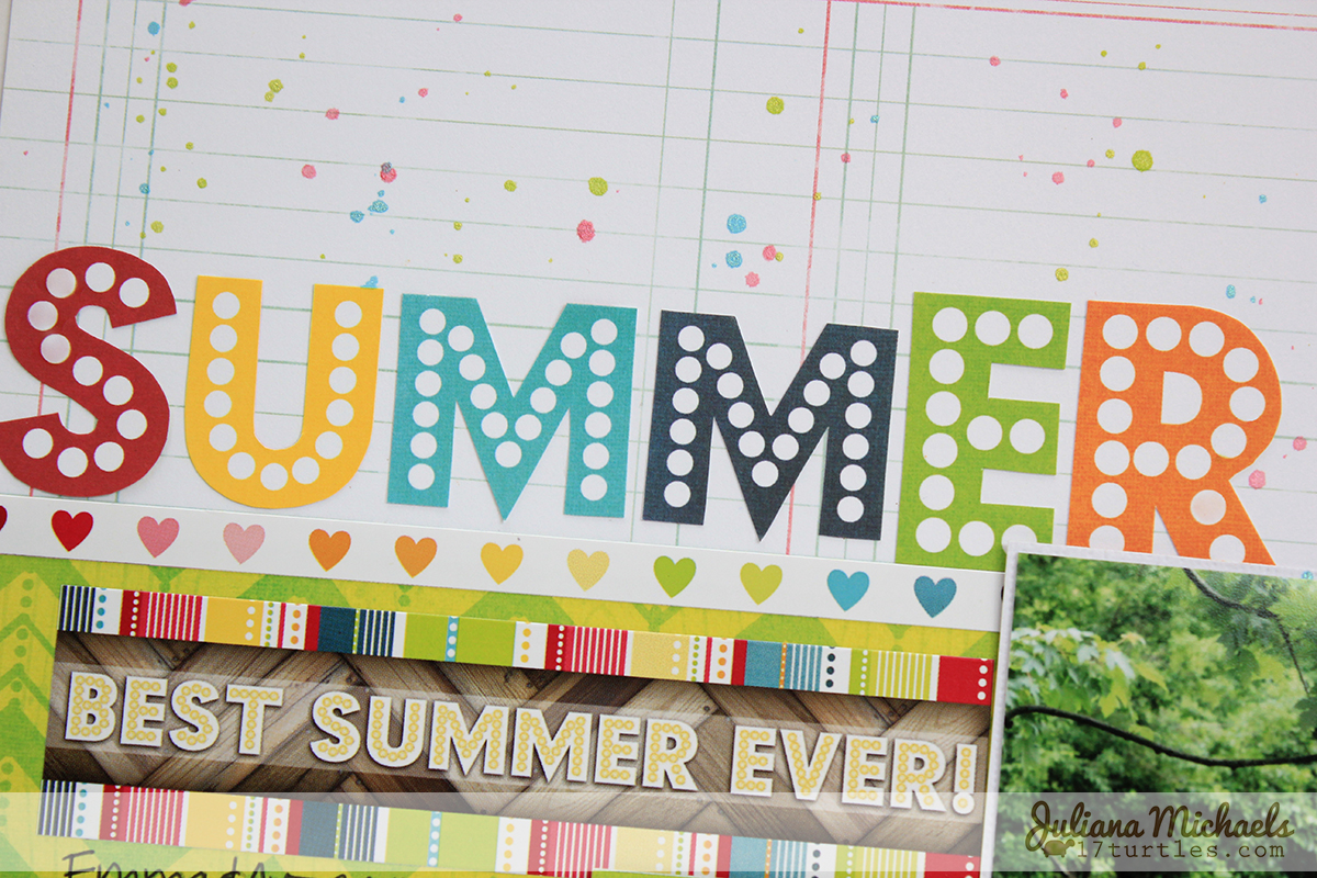 How to design scrapbook layouts - The Lemonade Stand Block Party And Staycation Papers Have So Many Fun Designs On Them And They Are Perfect For Fussy Cutting I Did Just That With These