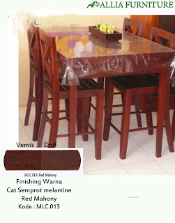 Contoh Furniture Semprot Melamine Red Mahony