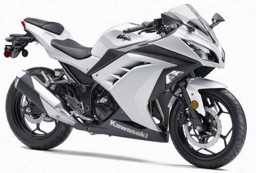 ninja 300 de color blanco