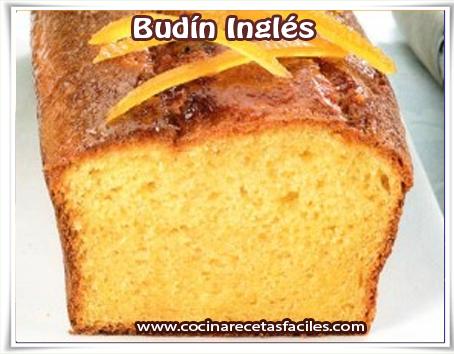 Recetas de postres y helados, budín Inglés