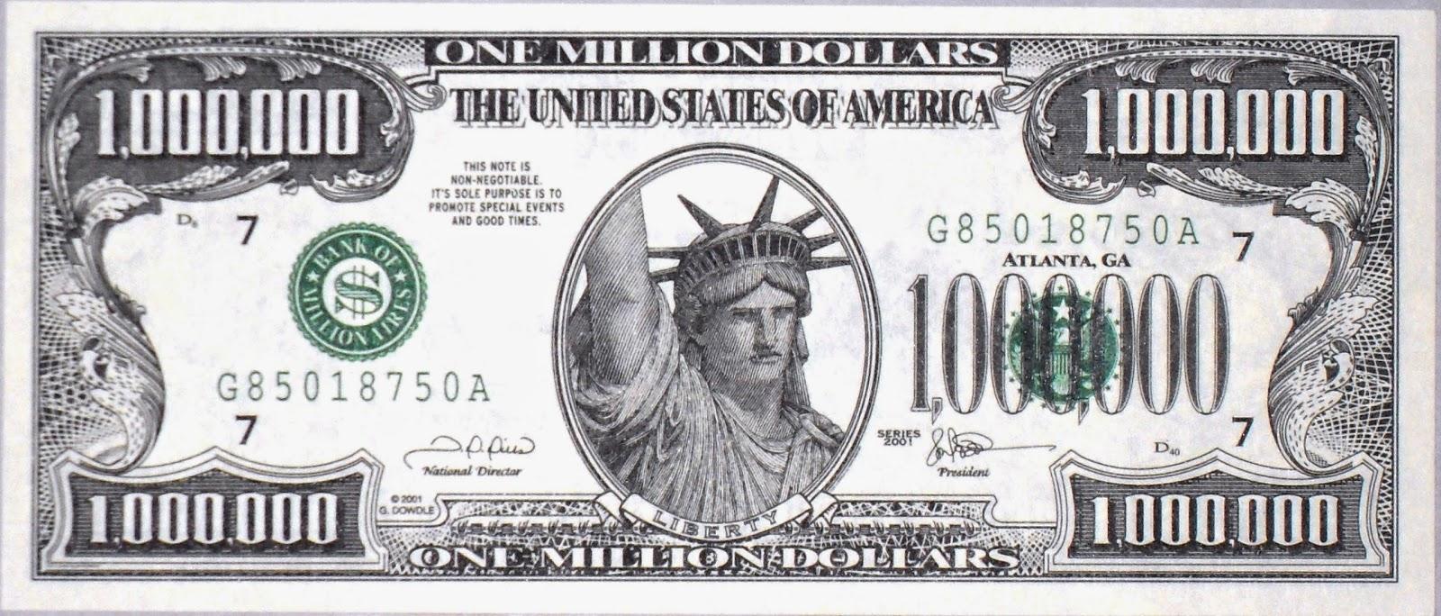 Resultado de imagen para 1 millon de dolares