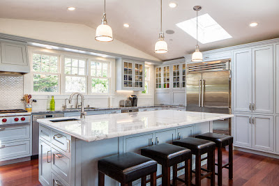 Gorgeous Display Of A Kitchen And Dining Area In Modern Style Filled