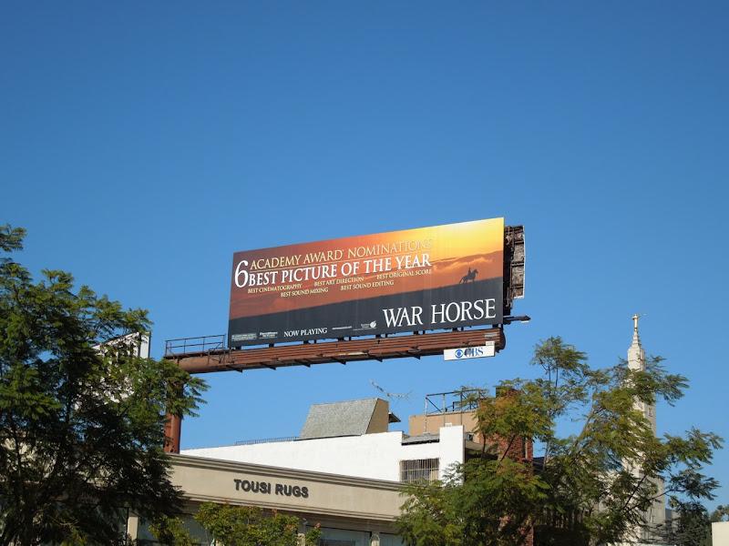 War Horse Oscar billboard