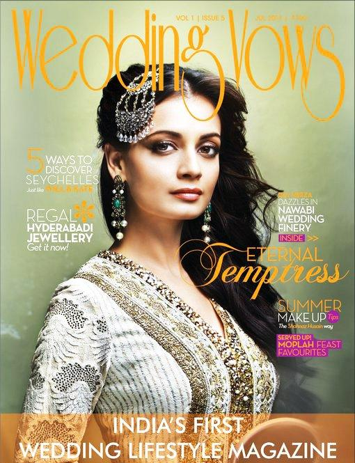 Dia Mirza On Wedding Vows Magazine Cover July 2011