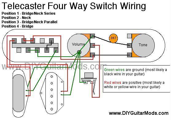 TONE WARRIOR Telecaster Modification 4Way Switching