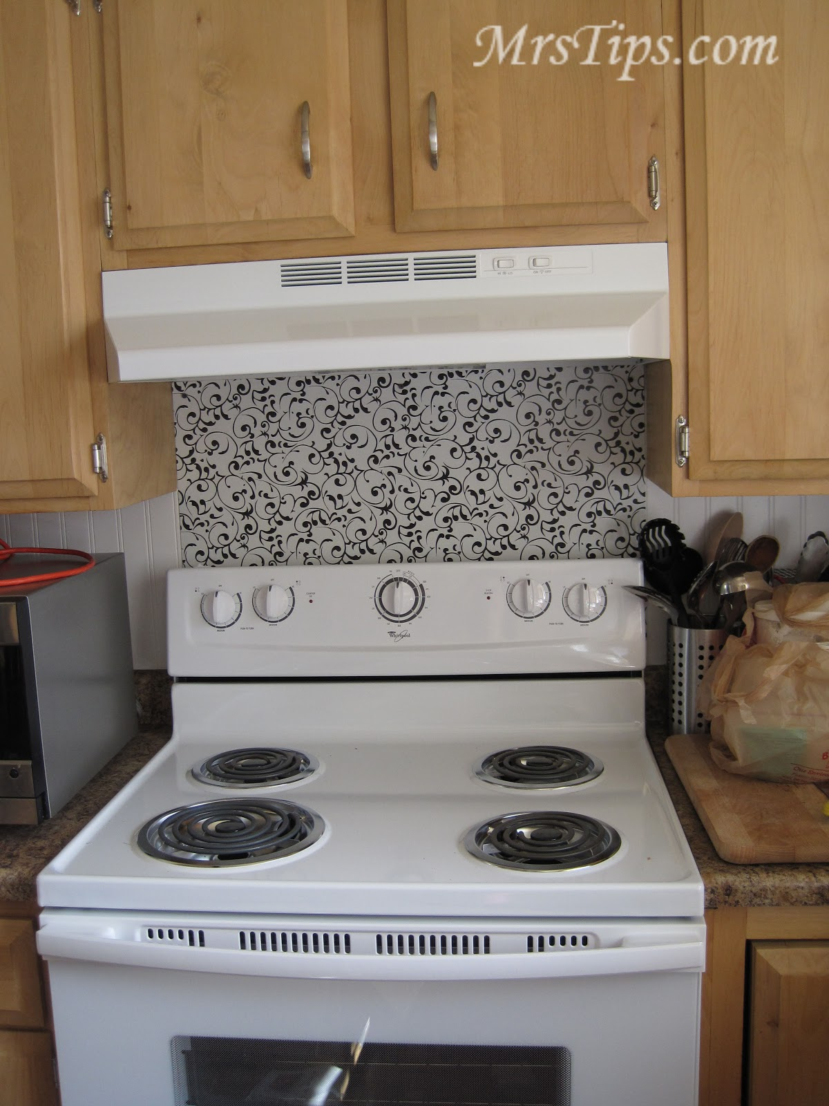 Mrs Tips 10 Or Less Backsplash For Your Stovetop