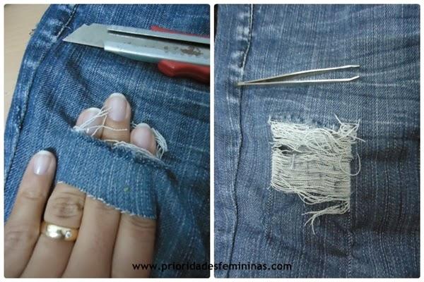 estilete desfiar roupa