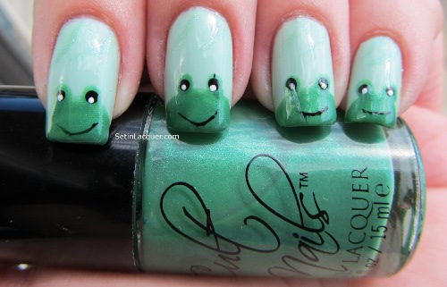 Feelin froggy nail art set in lacquer cute frog nail art prinsesfo Choice Image