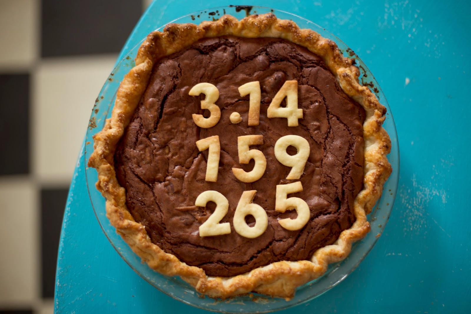 Chocolate Chess Pie with 3.14 for Pi(e) Day