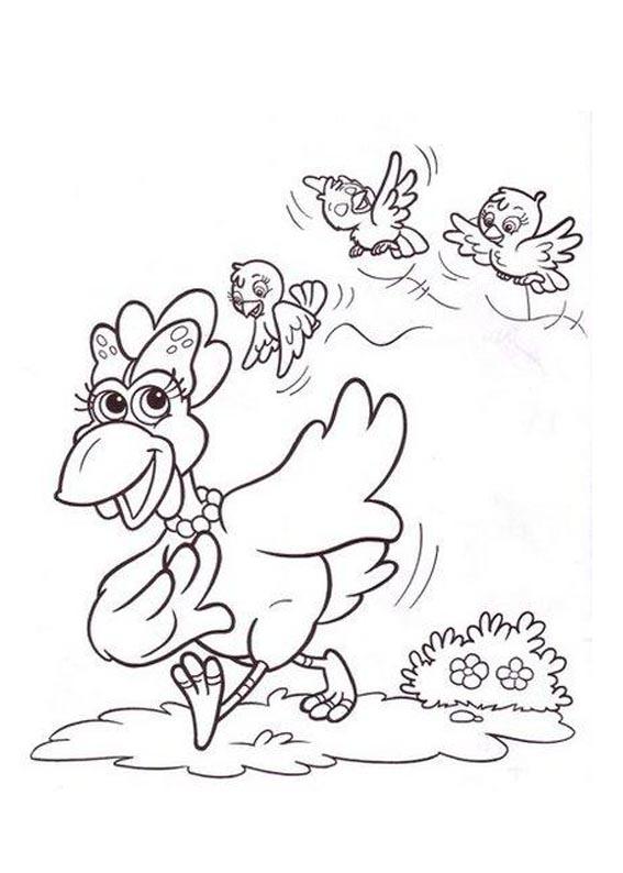 a desenhar Cocorico e Sua Turma colorir