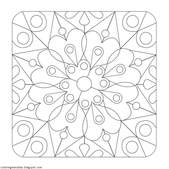 Coloring Mandalas 06 Anahata