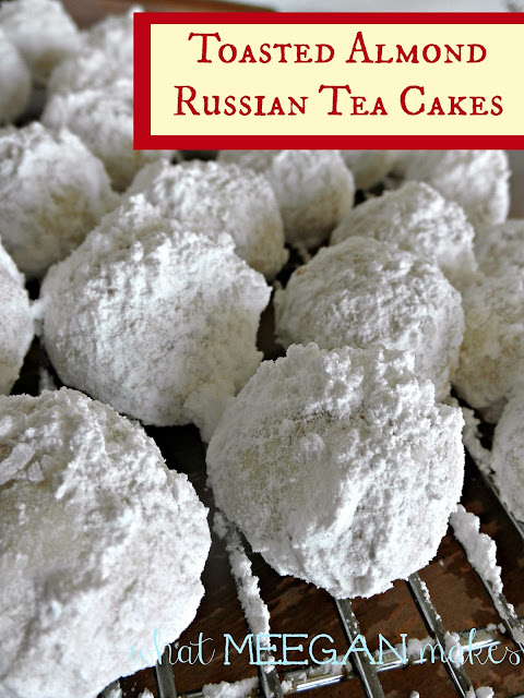 Toasted Almond Russian Tea Cakes - What Meegan Makes