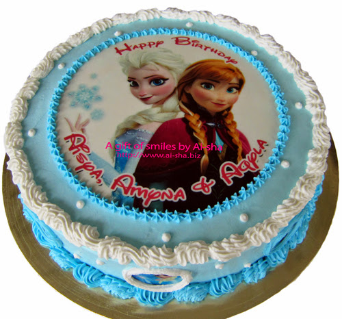 Edible Cake Pictures Frozen : Birthday Cake Edible Image Frozen - Aisha Puchong Jaya