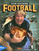 "John Madden ""booms"" through football game cover"