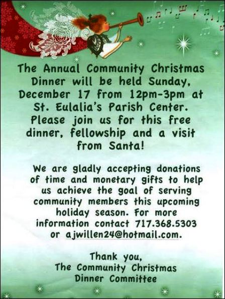 12-17 Community Christmas Dinner, St. Eulalia