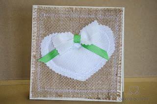 nietypowa ekologiczna kartka ślubna juta serce bawełna galeria schaffar