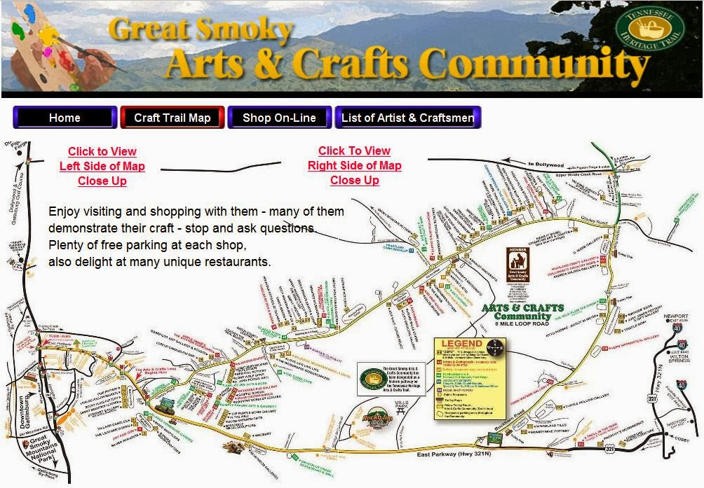 Craft Trail Map