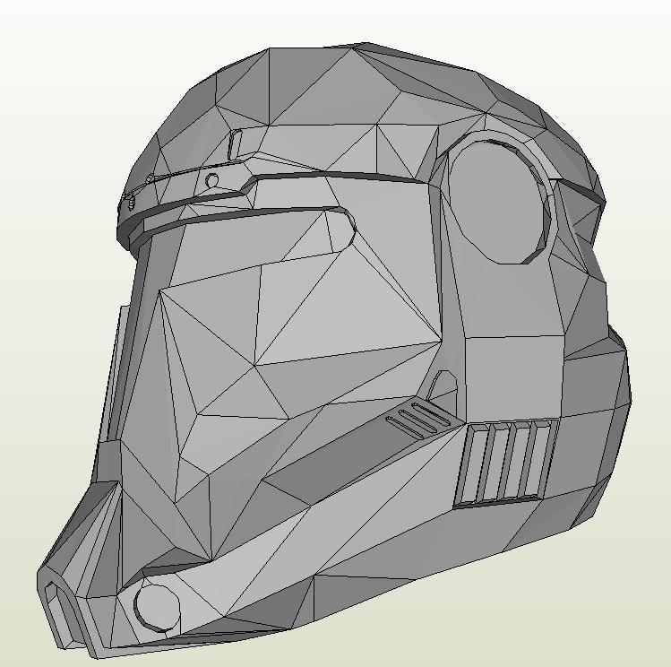 Star Wars Republic Commando] Helmet 1:1 - DePapercraftBlog