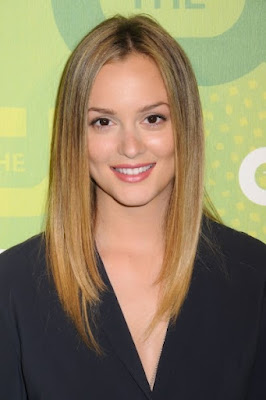 Leighton Meester long straight hairstyles