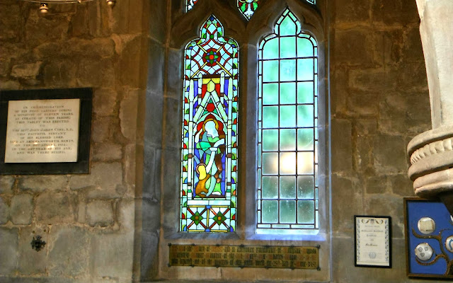 Blank window in Blithfield Church