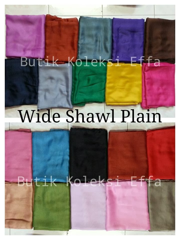 WIDE SHAWL PLAIN