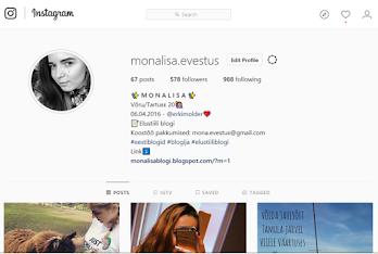 Jälgi minu tegemisi instagramis!
