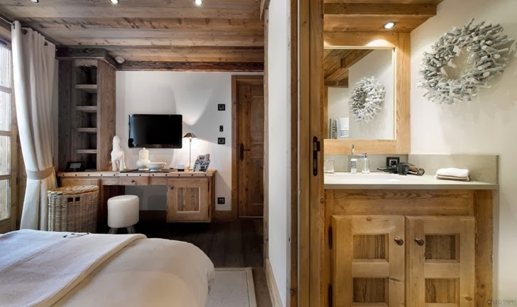 Bedroom furniture in ski resort