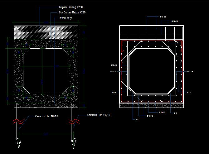 AUTO CAD GAMBAR BOX CULVER (DWG FILE)