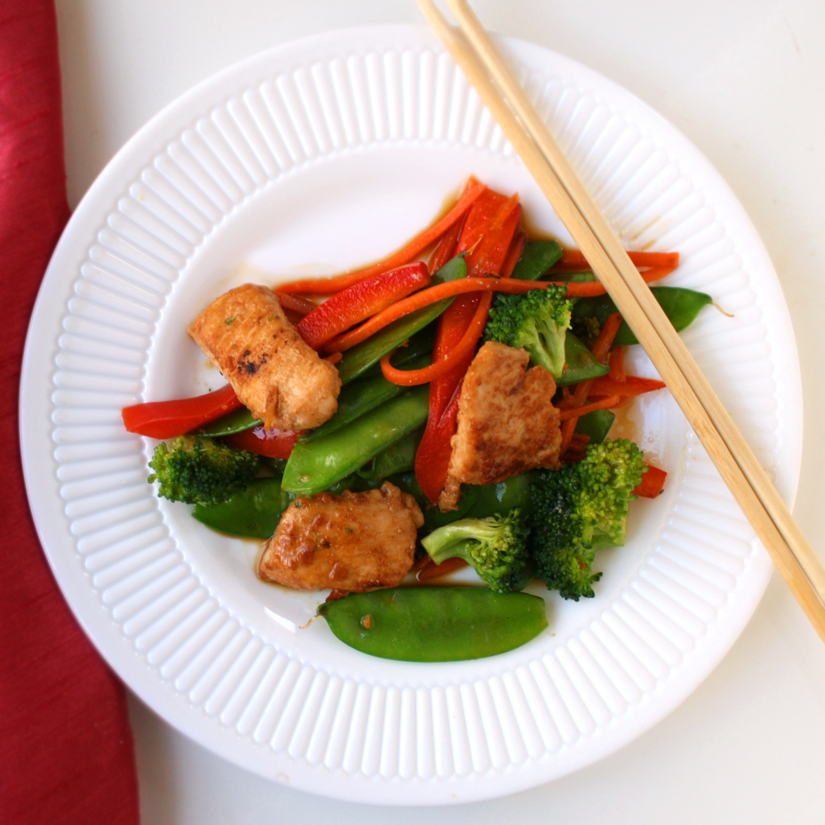 fry stir fried marinated tofu and mushrooms recipes dishmaps stir fry ...