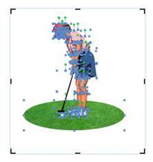 Selección de todos los objetos que componen una imagen vectorial