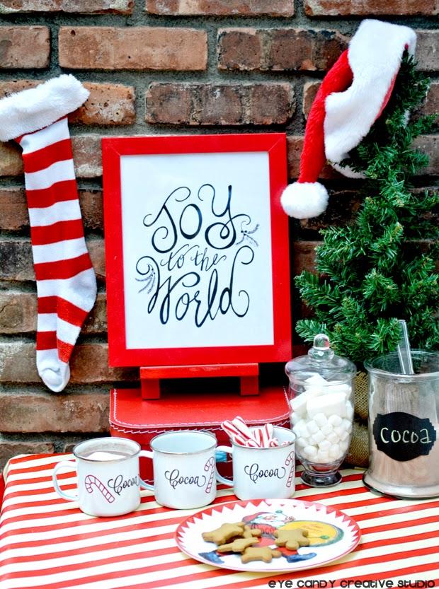 striped stockings, santa snack, gingerbread men, christmas cookies