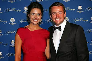 Graeme McDowell and his new wife Kristin Stape.