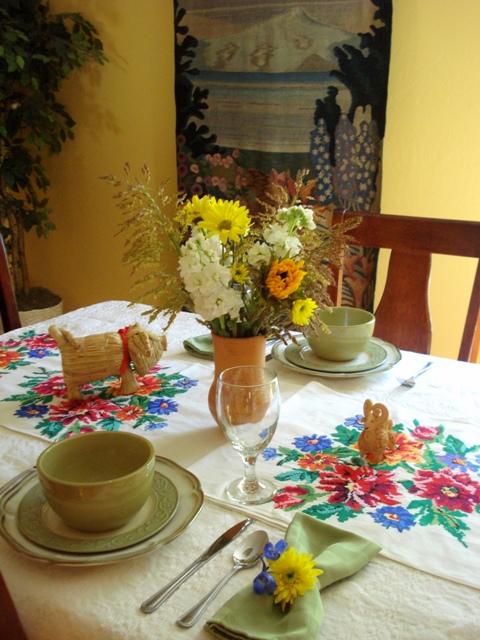 Ukrainian table setting