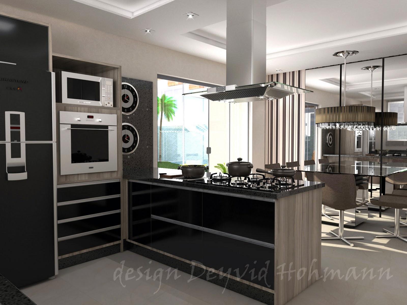 Deyvid Hohmann: Ambiente Conjugado cozinha e sala de jantar. #519239 1600 1200
