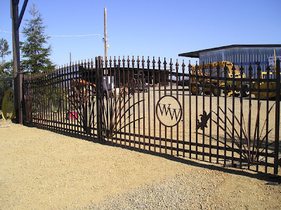 Commercial Iron Driveway Gate