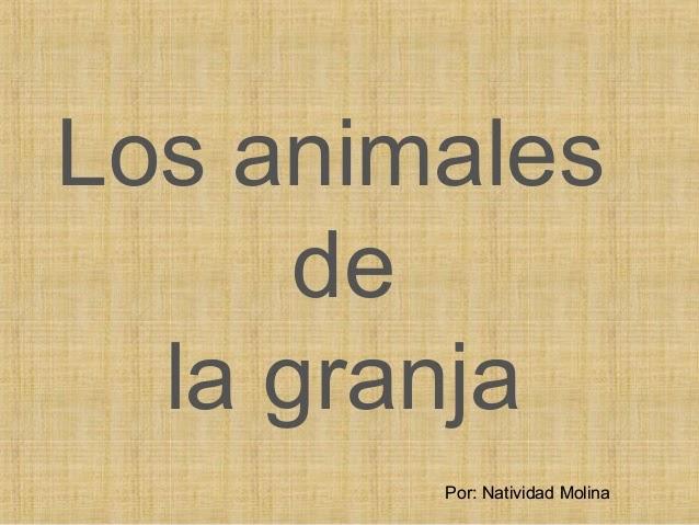 APRENDE LOS ANIMALES
