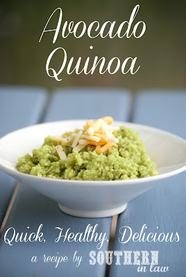 Healthy Creamy Avocado Quinoa - gluten free, low fat recipe