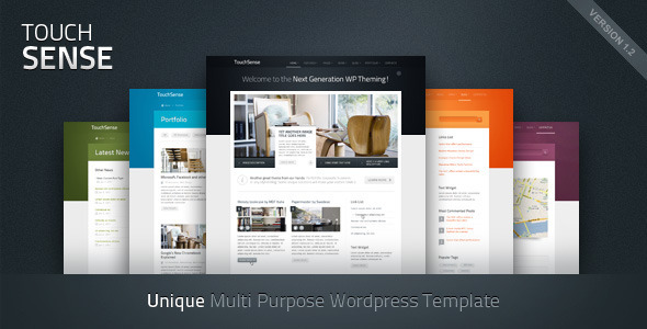 TouchSense - Multipurpose Wordpress Theme Free Download by ThemeForest.